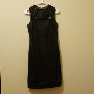 Alexander McQueen IT42 US 6 Denim Zip Back Dress